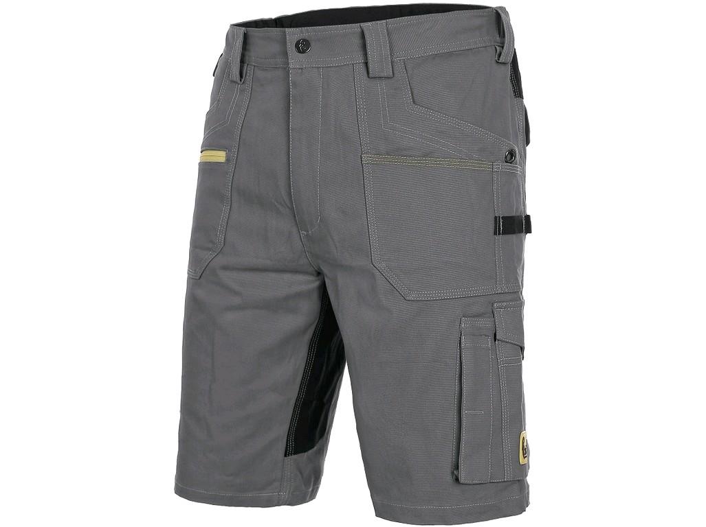 0b7699833 CXS STRETCH, pánske krátke nohavice, šedo - čierne