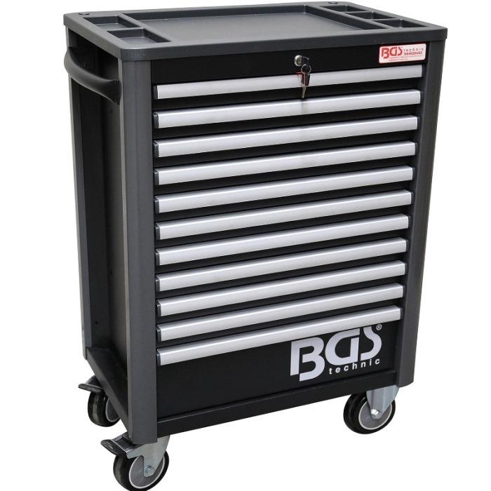 8eda91b841564 BGS technic Vozík dielenský, pojazdný, 11 zásuviek, 1033 x 724 x 470 mm